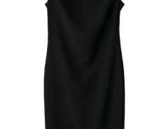 Black Crew Neck Midi Pencil Dress Choies.com bester Fashion-Online-Shop Großbritannien Europa