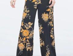 Black Floral High Waist Palazzo Flare Pants Choies.com bester Fashion-Online-Shop Großbritannien Europa