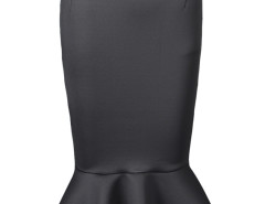 Black Midi Pencil Skirt With Flounce Hem Choies.com bester Fashion-Online-Shop Großbritannien Europa