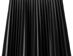 Black PU High Waist Pleat Skirt Choies.com bester Fashion-Online-Shop Großbritannien Europa