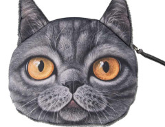 Black Shorthair Coin Purse Choies.com bester Fashion-Online-Shop Großbritannien Europa