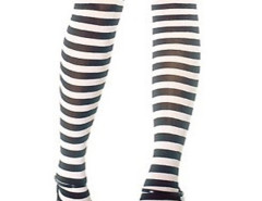 Black and White Stripes Over the Knee Stocking Choies.com bester Fashion-Online-Shop Großbritannien Europa