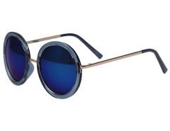 Blue Mirror Lens Metal Bridge Round Sunglasses Choies.com bester Fashion-Online-Shop Großbritannien Europa