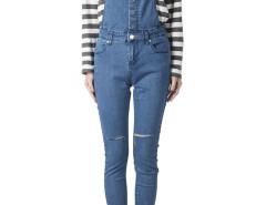 Blue Skinny Denim Overalls Choies.com bester Fashion-Online-Shop Großbritannien Europa