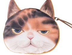 Chocolate Sleepy Panel Garfield Cat Coin Purse Choies.com bester Fashion-Online-Shop Großbritannien Europa