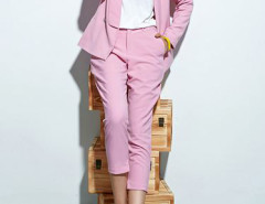 Choies Limited Edition Pink Blazer With Slim Ninth Pants Choies.com bester Fashion-Online-Shop Großbritannien Europa