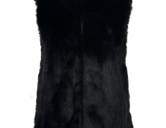 Faux Fur Waistcoat in Black Choies.com bester Fashion-Online-Shop Großbritannien Europa