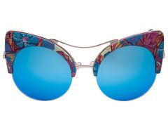 Floral Mirror Lens Cat Eye Sunglasses Choies.com bester Fashion-Online-Shop Großbritannien Europa