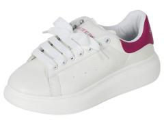 Fuchsia And White Letter Print Lace Up Platform Shoes Choies.com bester Fashion-Online-Shop Großbritannien Europa
