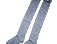 Gray Rivet Stocking Choies.com bester Fashion-Online-Shop Großbritannien Europa