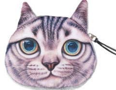 Gray Shorthair Coin Purse Choies.com bester Fashion-Online-Shop Großbritannien Europa