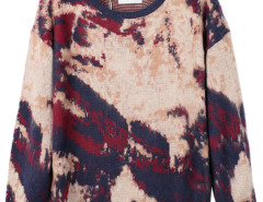 Multicolor Contrast Splash Patterned Sweater Choies.com bester Fashion-Online-Shop Großbritannien Europa