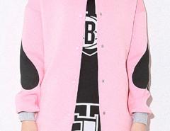 Pink Poker Print Bomber Jacket Choies.com bester Fashion-Online-Shop Großbritannien Europa