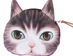 Purple Green Eyes Pink Nose Ocicat Coin Purse Choies.com bester Fashion-Online-Shop Großbritannien Europa