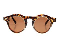 Two-Double Vintage Sunglasses In Leopard Print Choies.com bester Fashion-Online-Shop Großbritannien Europa
