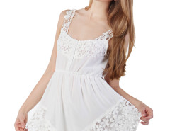 White Angel Lace Hem Romper Playsuit Choies.com bester Fashion-Online-Shop Großbritannien Europa