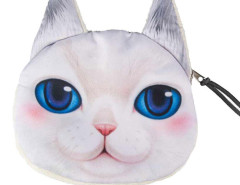 White Big Blue Eyes Persian Cat Coin Purse Choies.com bester Fashion-Online-Shop Großbritannien Europa