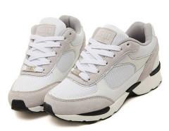 White Color Block Mesh Panel Lace Up Trainers Choies.com bester Fashion-Online-Shop Großbritannien Europa