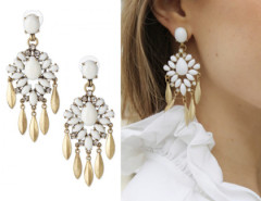 White Gemstone Drop Earring Choies.com bester Fashion-Online-Shop Großbritannien Europa