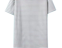 White Stripe Short Sleeve Tee Dress Choies.com bester Fashion-Online-Shop Großbritannien Europa