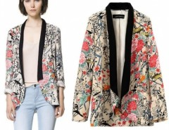 New Vintage Retro Womens Chiffon Boho Hippie Loose Floral Print Kimono Coat Cape Blazer S/M/L Cndirect bester Fashion-Online-Shop China
