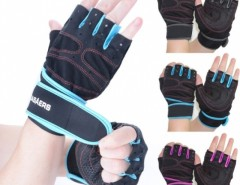 1 Pair Sports Fashion Gym Cycling Bike Bicycle Shockproof Sports Half Finger Glove Cndirect bester Fashion-Online-Shop China