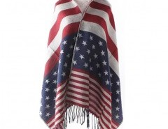 Tassel Scarf with National Flag Print Chicnova bester Fashion-Online-Shop aus China