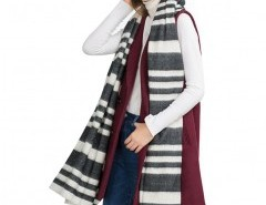 Oversized Scarf in Neutral Stripe Chicnova bester Fashion-Online-Shop aus China
