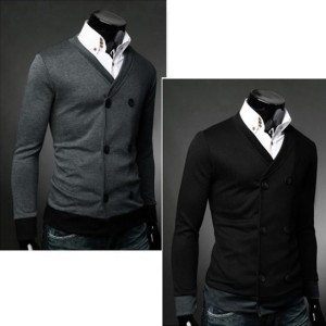 Men's Double-Breasted Cardigan Jumper Sweaters Tops Cndirect bester Fashion-Online-Shop aus China