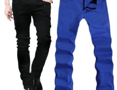 Men's Candy Color Slim Stretchy Pencil Pants Skinny Jeans Trousers Cndirect bester Fashion-Online-Shop aus China