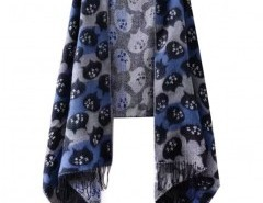 Cat Print Fringing Cape Chicnova bester Fashion-Online-Shop aus China