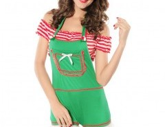 Christmas Romper Set (romper  crop top and hat) Chicnova bester Fashion-Online-Shop aus China