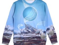 Choies 3D Unisex Ruins Print Sweatshirt Choies.com bester Fashion-Online-Shop aus China