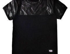 Black PU Unisex T-shirt Choies.com bester Fashion-Online-Shop aus China