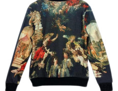 Sweatershirt With Religion Print Choies.com bester Fashion-Online-Shop aus China