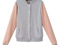 Stand Collar Jacket in Contrast Color Chicnova bester Fashion-Online-Shop aus China