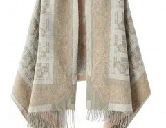 Jacquard Cape with Fringe Chicnova bester Fashion-Online-Shop aus China