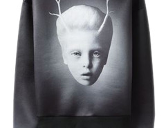 Men's Black Mysterious Child Print Visco-Elastic Sweatshirt Choies.com bester Fashion-Online-Shop aus China