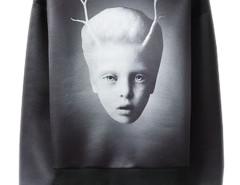 Men's Black Mysterious Child Print Visco-Elastic Sweatshirt Choies.com bester Fashion-Online-Shop aus China