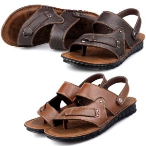 Male Sandals Casual Leather Male Slippers Men's Beach Shoes Flip-flop Sandals 2Colors 6Sizes Cndirect bester Fashion-Online-Shop aus China