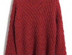 Round Neck Cable Knit Sweater Chicnova bester Fashion-Online-Shop aus China
