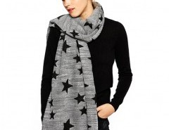 Soft Tassel Scarf with Black Star Chicnova bester Fashion-Online-Shop aus China