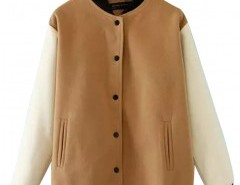 Color Block Jacket with Stand Collar Chicnova bester Fashion-Online-Shop aus China