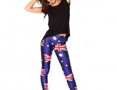 Skinny Leggings with Union Flag Print Chicnova bester Fashion-Online-Shop aus China