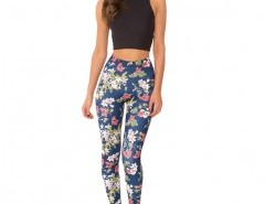 Skinny Leggings in Floral Print Chicnova bester Fashion-Online-Shop aus China