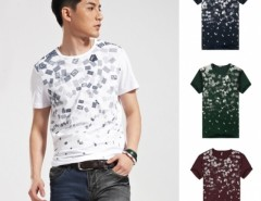 Men's Letter Printing Round Collar Short Sleeves Tops T-shirt Cndirect bester Fashion-Online-Shop aus China