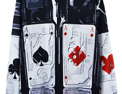 Choies 3D Unisex Poker Print Sweatshirt Choies.com bester Fashion-Online-Shop aus China