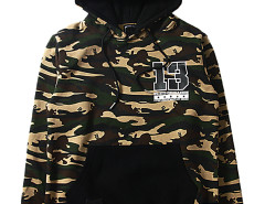 Unisex Tiger Stripes Camouflage Letter Print Hoodie Choies.com bester Fashion-Online-Shop aus China