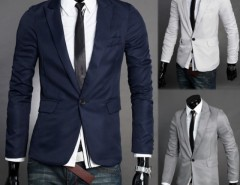 Men's V Neck One Button Blazer Suit Coat Jacket Cndirect bester Fashion-Online-Shop aus China
