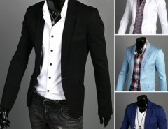 Men's Fit Zip Casual One Button Suit Blazer Coat Jackets Cndirect bester Fashion-Online-Shop aus China